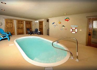 Indoor Pool of chalet called Movie Dive Inn, Gatlinburg TN