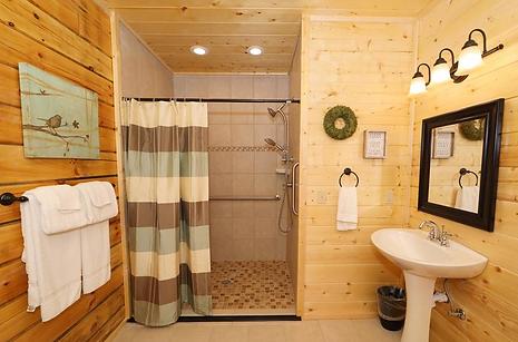 Roll in shower Deerfield Lodge Little Va