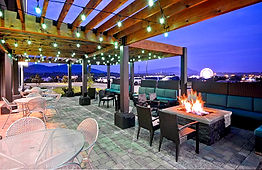 Home2 Suites view on patio Pigeon Forge
