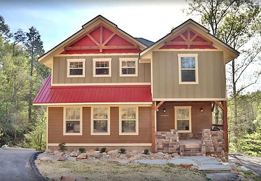 Cabins for Christmas & Thanksgiving in Gatlinburg, Movie Dive Inn, Gatlinburg Chalet with indoor pool, exterior view