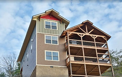 Firefly Nights, cabin with Elevator in Gatlinburg TN, exterior view