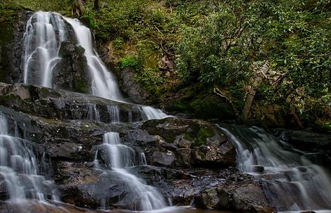 Laurel Falls, Gatlinburg, Great Smoky Mountain National Park, Tennessee waterfalls