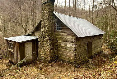 Avent Cabin near Jake's Creek Trail, Elkmont Campgrounds, Great Smoky Mountains, near Gatlinburg
