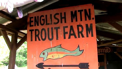 English Mountain Trout Farm sign, Sevierville, TN