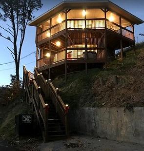 Cabin near Anakeesta in Gatlinburg TN, City Walk, deck view