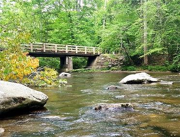 Metcalf Bottoms Trail Smoky Mountains, bridge