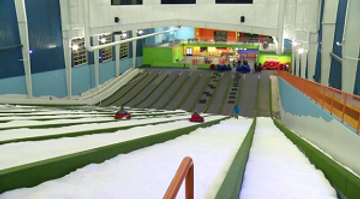 Pigeon Forge Snow Inside view from top of slide