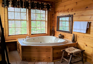 heart shaped jaccuzzi in A Passionate View cabin Gatlinburg Tennessee
