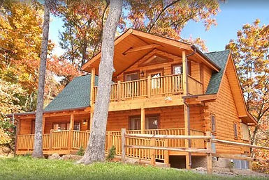 Wheelchair friendly cabin, Stardust Mountain cabin in Pigeon Forge, exterior