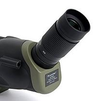 eyepiece closeup on a Celestro spotting scope