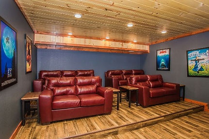 theater room in Magical Mountain cabin Pigeon forge