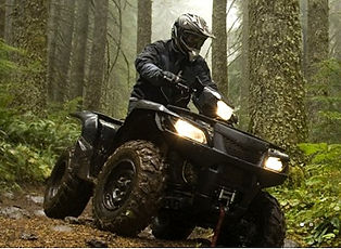 ATV tours in Pigeon Forge TN, Rider on ATV on a mountain trail