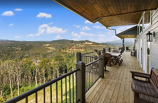 New Chalet in Chalet Village, handicap accessible and cabin with elevator in Gatlinburg, deck view