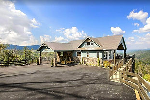 exterior cabin view, New Chalet in Chalet Village, handicap accessible and cabin with elevator in Gatlinburg