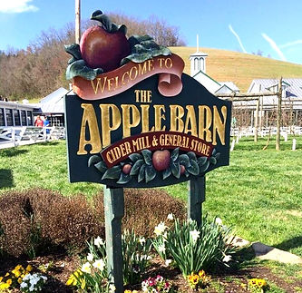Apple Barn Cider Mill and General Store sign, Seveirville TN