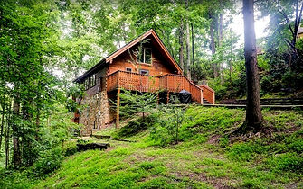High Haven honeymoon cabin in Gatlinburg TN, exterior view
