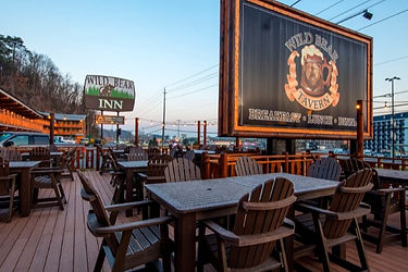 Wild Bear Tavern, Pigeon Forge, TN, outdoor seating