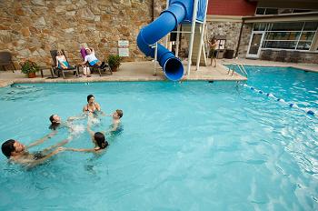 Greystone Lodge pool with waterslide