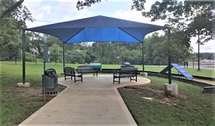 Sevierville Dog Park sitting area