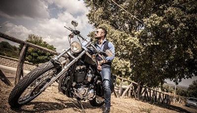 biker ready to ride