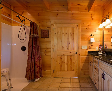 cabin with elevator and roll in shower.P