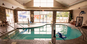 indoor pool with pool lift for disabled