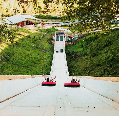 Jayell Ranch tube slide, tubing Sevierville Pigeon Forge tn