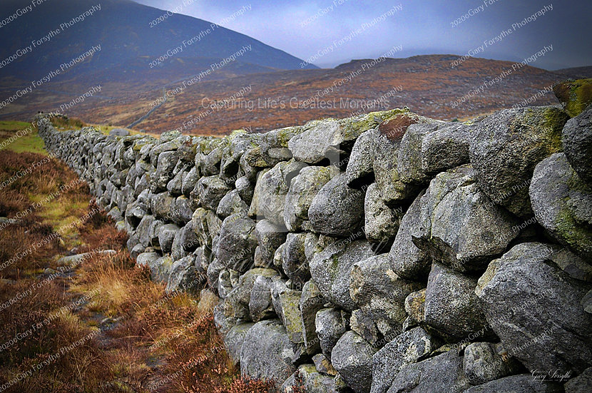 Dry Stone Wall - 'Mourne' Mountains - Ireland