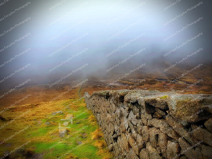 On the way down !!! Slieve Lough Shannagh - Ireland