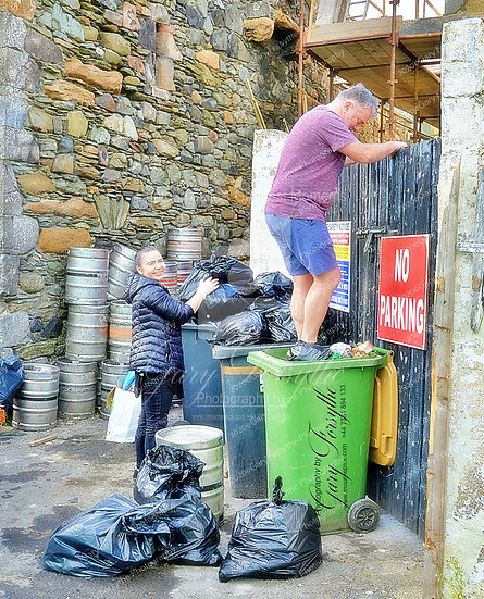 'Phil' in the bins or 'filling' the bins depending on who's asking !!! IRELAND