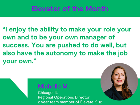 Elevater of the Month - Michelle M.
