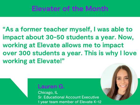 Elevater of the Month - Lauren G.