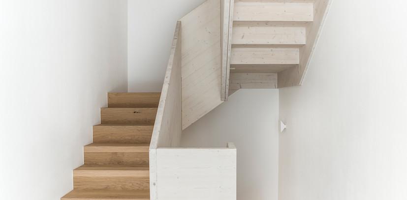 Holz I Bau I Wagen GmbH, Holztreppe. Foto: ©Adrienne-Sophie Hoffer