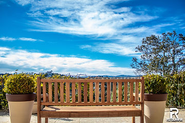 Vista do Deck do Café Pousada Bosque das Araucárias