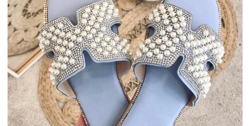 Pearl Embellished Mule