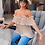 Thumbnail: Nude Off Shoulder Pleated Top