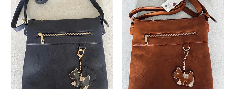 Crossbody Bag with Jewelled Charm