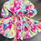 Thumbnail: Watercolour mini dress with braided rope belt