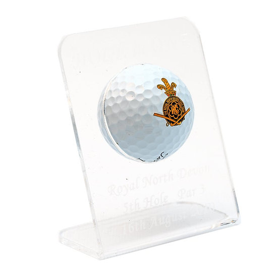Gift for the Golfer, Personalised Single Golf Ball Display.  Golf Trophy