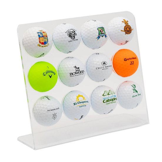 Personalised 12 x Golf Ball Display, Golf Ball Holder