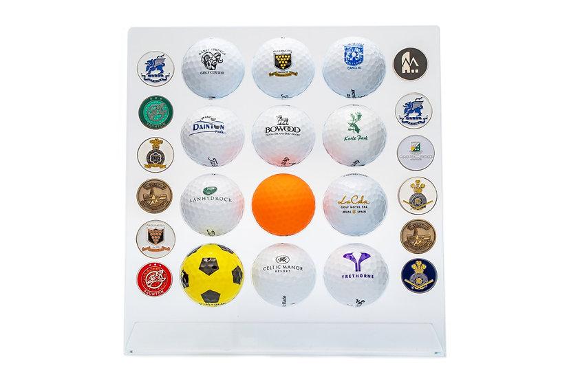 gift for the golfer, golf ball holder, engraved golf ball holder, personalised golf gift, personalised golf, golf gift,