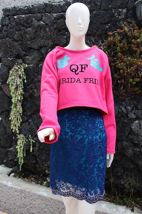 Falda Guipure Azul