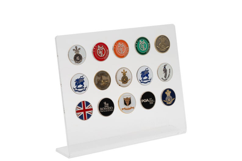 Gift for the Golfer 15 Golf Ball Marker Display