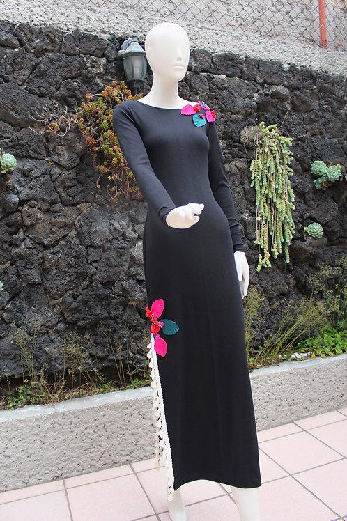 Vestido Largo Stretch Negro