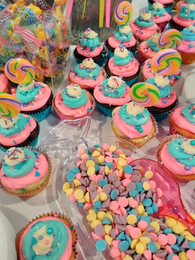 Candy and Colorful Cupcakes