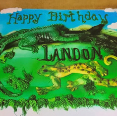 Reptile Birthday Cake