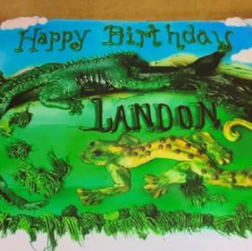 Reptile Birthday Cake