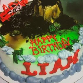 Monster Trucks Birthday Cake