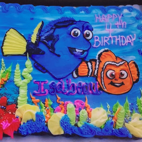 Dory and Nemo Birthday Cake