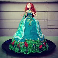 Princess Merida Birthday Cake